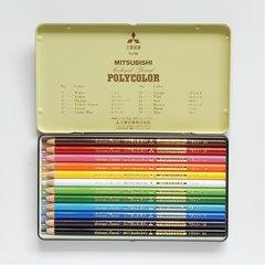 Цветные карандаши Mitsubishi Pencil Polycolor (12 шт)
