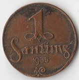 K7110, 1935, Латвия, 1 сантим