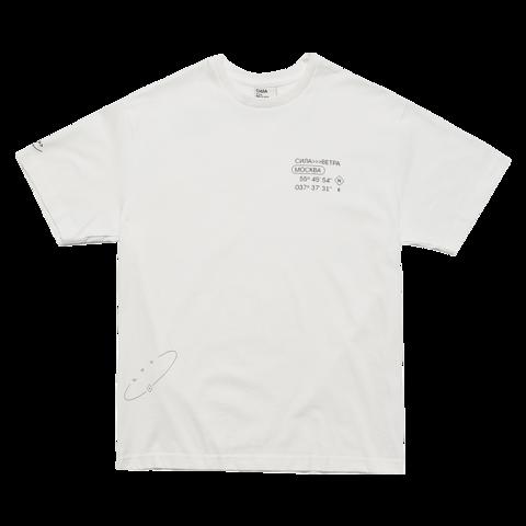 Белая футболка Силы ветра
