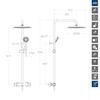Душевая система с термостатом и тропическим душем для ванны BLAUTHERM 944801RP300NM черный - фото №2