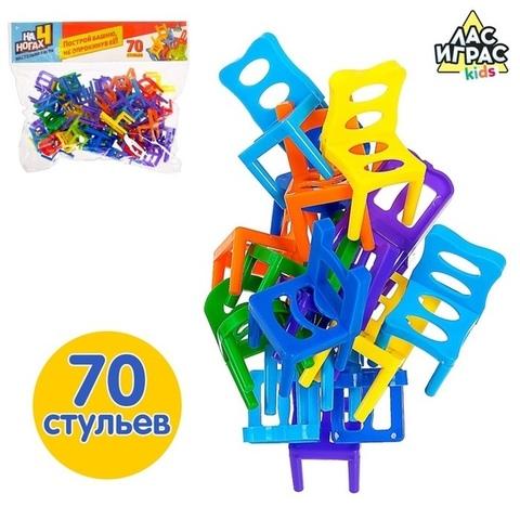 063-4024 Настольная игра на равновесие «На 4 ногах», 70 стульев