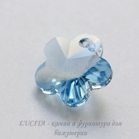 6744 Подвеска Сваровски Цветочек Aquamarine (14 мм) ()