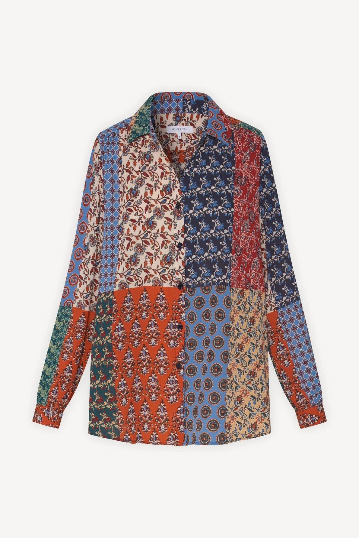 NICKY - Свободная блуза со сборкой