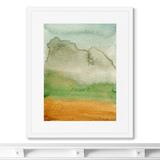Marina Sturm - Репродукция картины в раме Clouds descend on the mountains