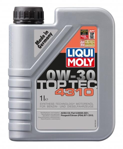 Liqui Moly Top Tec 4310 0W30 Синтетическое моторное масло
