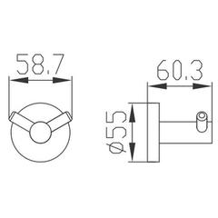 Крючок двойной KAISER Bronze KH-4102  схема