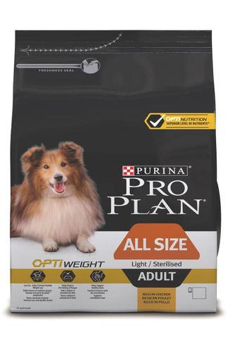 Сухой корм Purina Pro Plan для склонных к избыточному весу или стерилизованных собак всех пород, курица с рисом
