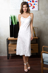 Шелковая сорочка белая 15155 Mia-Mia