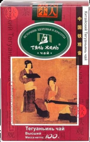 Чай улун Тянь-Жень Те Гуань Инь Улун листовой 100 гр