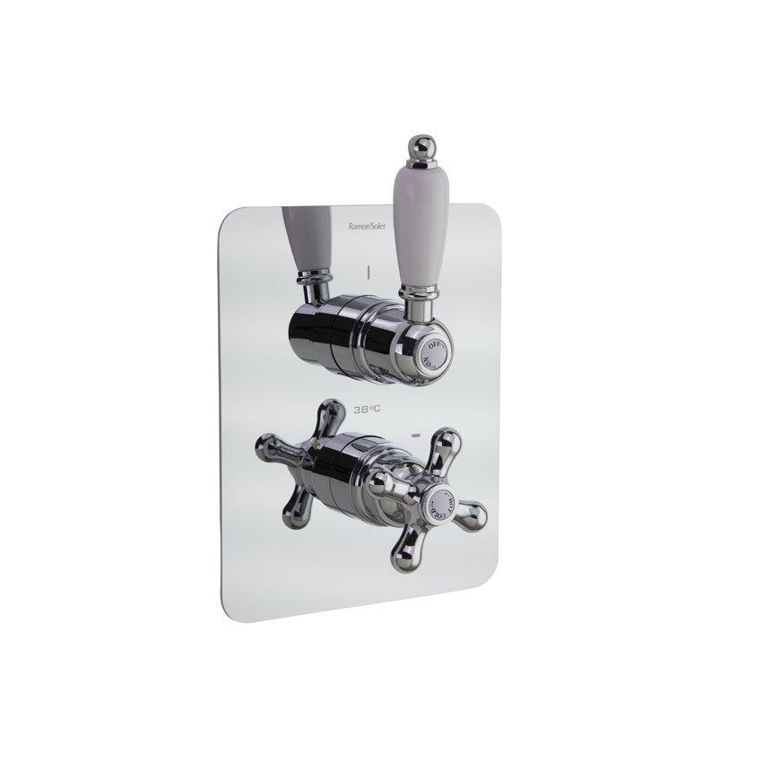 Встраиваемый термостатический смеситель для душа GAUDI 308712S на 2 выхода