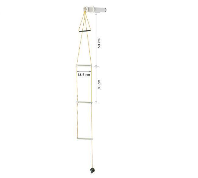 Flushmount safety ladder