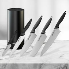 Набор из 5 ножей Samura Golf и подставки KBF-102