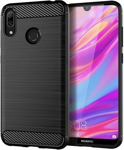 Чехол Carbon для Huawei Y7 (2019)/Y7 Pro/Y7 Prime серия Карбон | черный