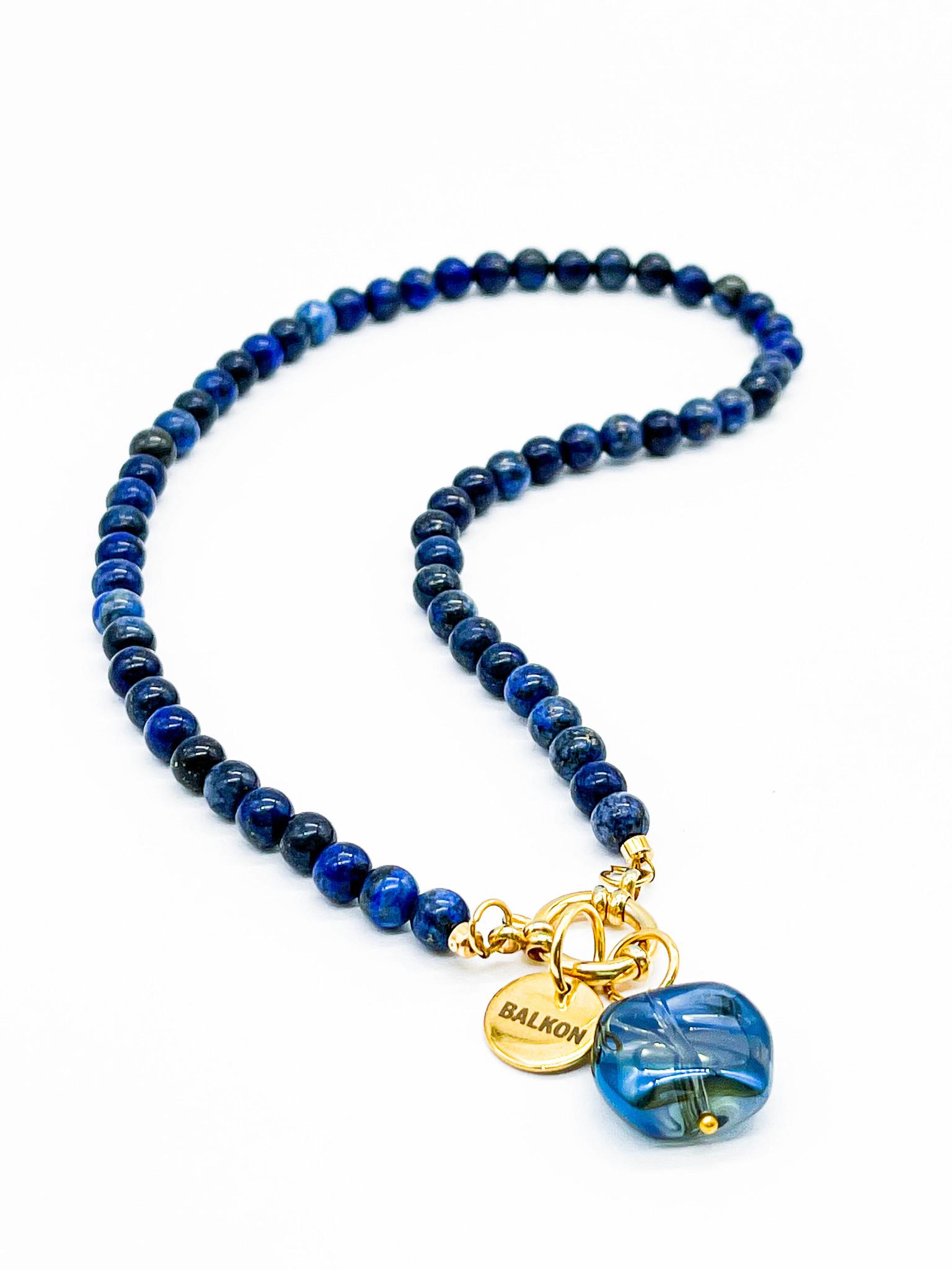 Чокер из камня 6 мм / lapis lazuli /