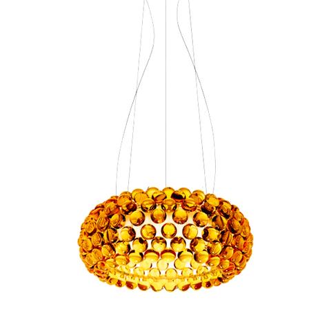 Подвесной светильник копия CABOCHE media by Foscarini (янтарный)