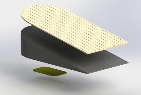 Подпяточник для коррекции длины ног на 20 мм, 1 шт