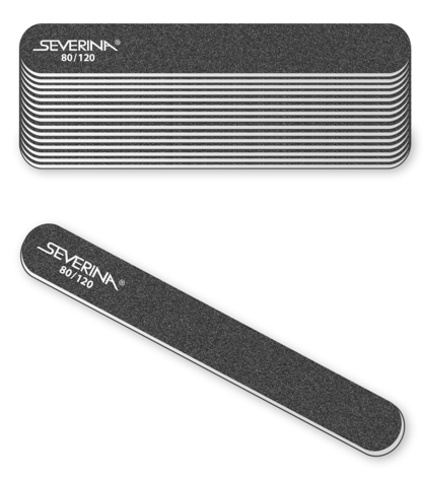 Пилка Severina для обработки искусственных ногтей 100/120 грит