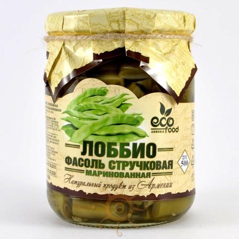 Лоббио фасоль стручковая маринованная Ecofood, 500г