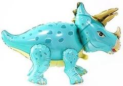 Ходячий шар Динозавр Трицератопс бирюзовый