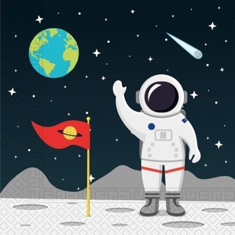 Салфетка Открытый Космос 33см 20шт