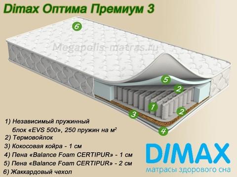 Матрас Dimax Оптима Премиум 3 от Мегаполис-матрас