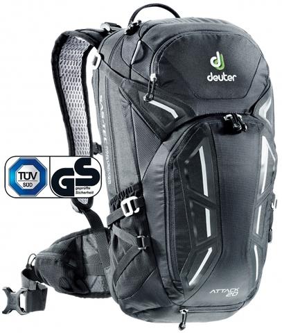 Картинка рюкзак велосипедный Deuter Attack 20 Black - 1