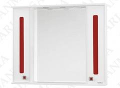 Зеркало-шкаф SanMaria Париж-80 красный, 2 ящика