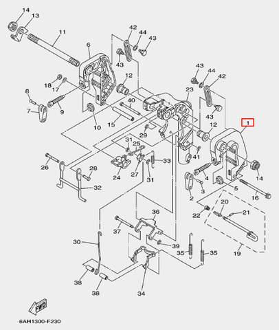 Скоба струбцина левая для лодочного мотора F20 Sea-PRO (19-1)