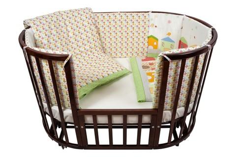"""Комплект для кроватки Nuovita """"Case"""", 6 предметов. (verde/зеленый)"""