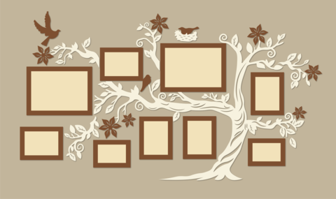 Фотокомпозиция ДекорКоми коллаж в форме дерева