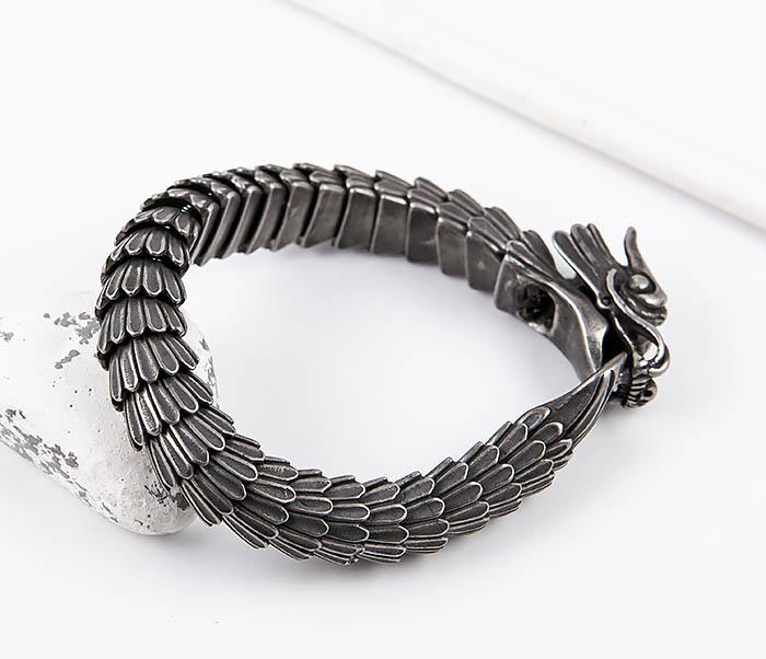 BM557 Оригинальный стальной браслет «Дракон» фото 08