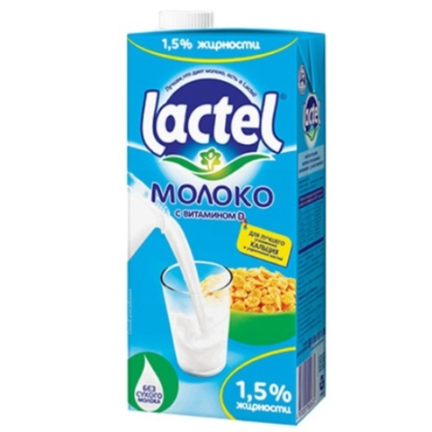 Молоко LACTEL Витамин D 1,5% 1000 гр т/п Food Master КАЗАХСТАН
