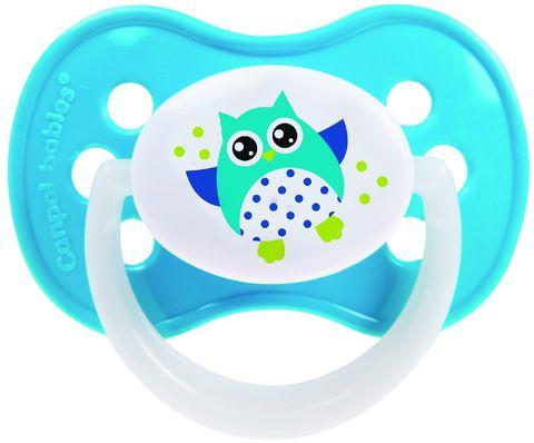 Canpol. Пустышка Owl симметричная силиконовая 0-6 мес., голубой