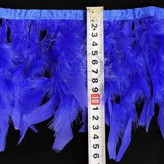 Купить оптом перья Индейки на ленте в интернет-магазине синие