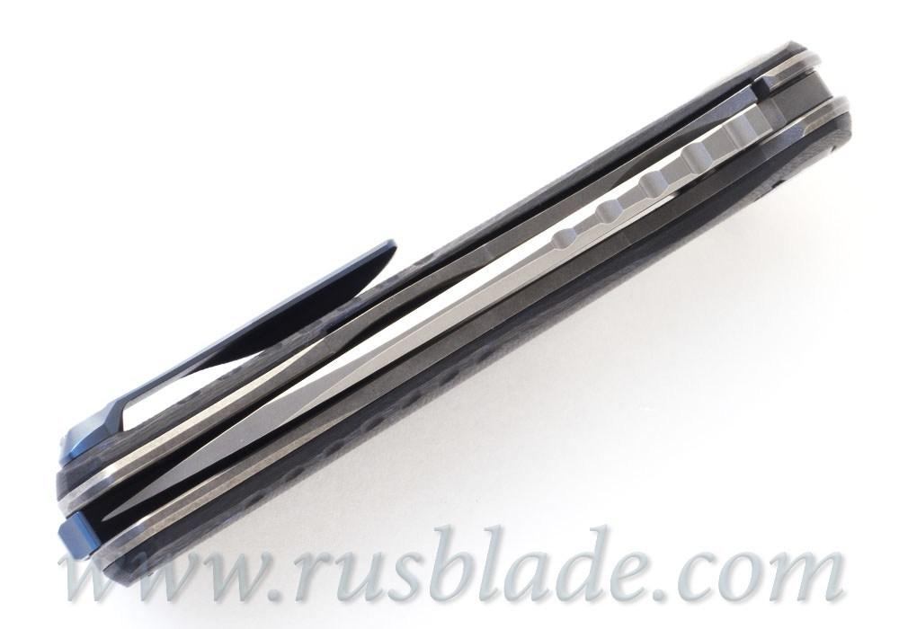 Shirogorov F3 NS M390 Blue Carbon Fiber - фотография