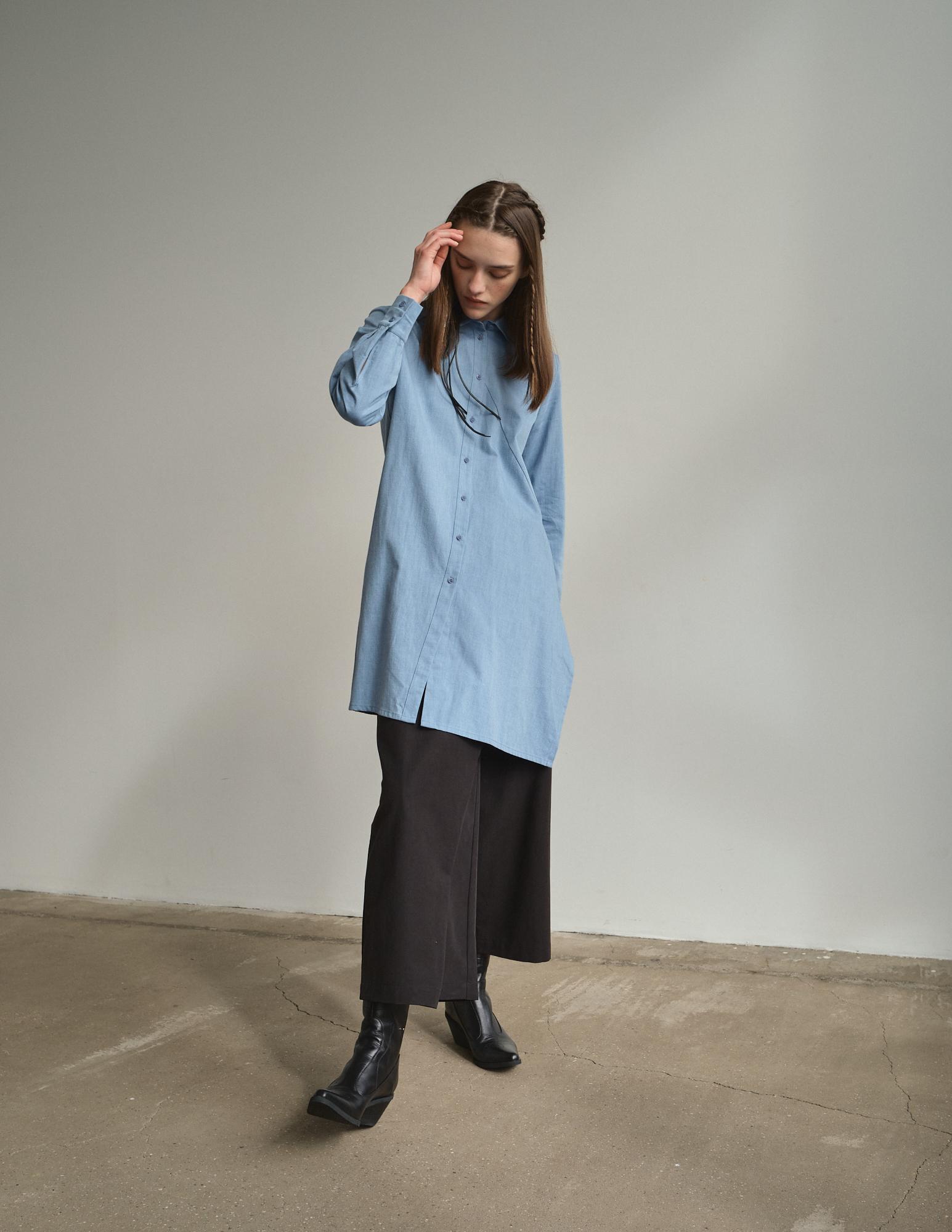 Рубашка асимметричная удлиненная