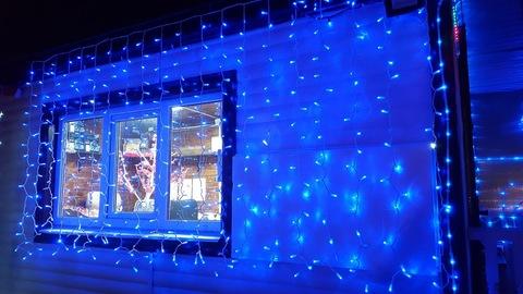Световой занавес уличный 3*2м 400LED син-бел с мерц