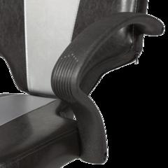 Парикмахерское кресло Мона модерн гидравлика хром, пятилучье хром на подпятниках