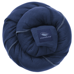 Трикотажный слинг-шарф manduca navy (синий)