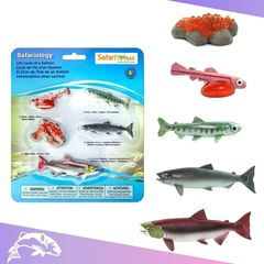 Набор фигурок Жизненный цикл лосося Safari Ltd 100267