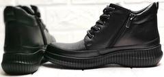 Осенние ботинки женские спортивный стиль Evromoda 535-2010 S.A. Black.