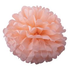 Помпон из бумаги, 40 см, персиковый