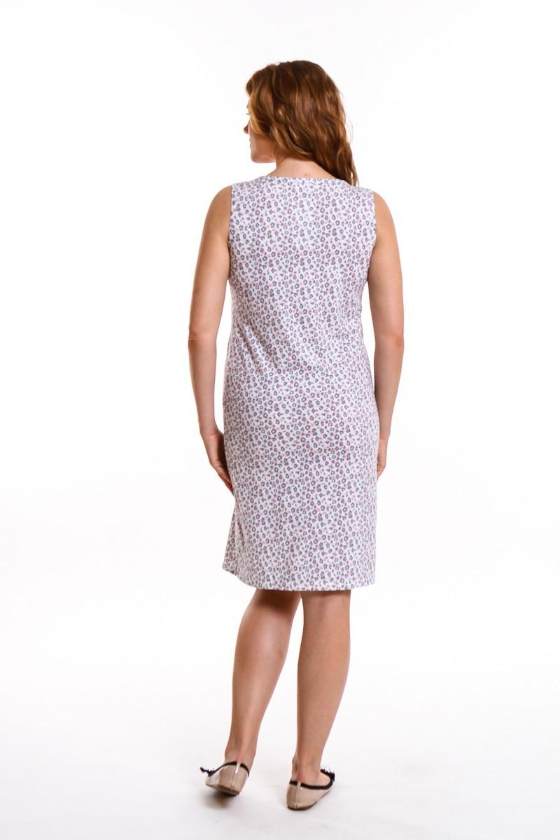 Ночная сорочка для беременных и кормящих 09428 леопардовый принт