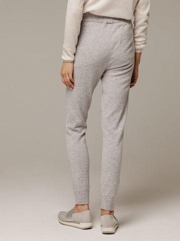 Женские серые брюки с карманами из шерсти и кашемира - фото 3
