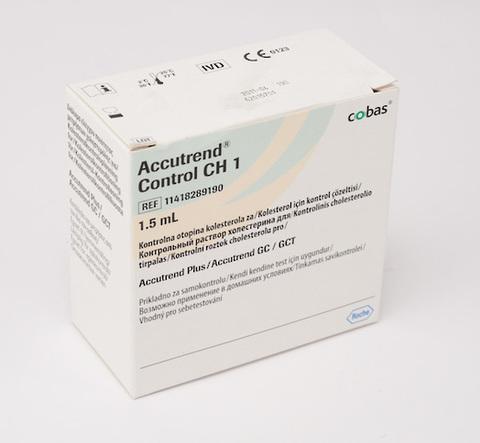 Контрольный раствор «Аккутренд Контроль Холестерин» (Accutrend Control СН 1) 1х1,5 мл Roche Diagnostics GmbH, Германия