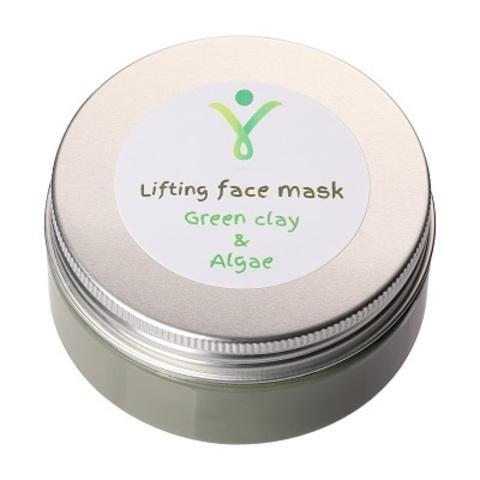 Лифтинг-маска для лица с зеленой глиной и водорослями