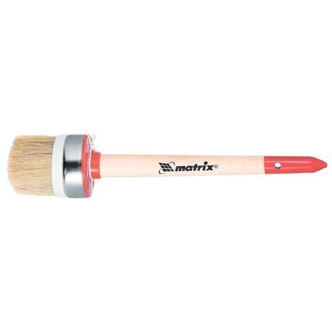 Кисть круглая, Профи №12 (45 мм), натуральная щетина, деревянная ручка MTX