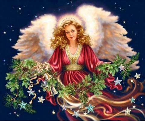 Алмазная Мозаика + Багет 30x40 Рождественский ангел
