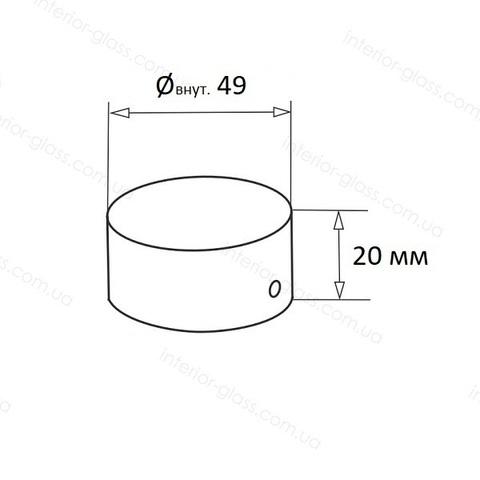 Заглушка ПВХ поручня D=49 мм ST-452