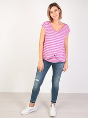 Евромама. Блуза для беременных и кормящих на запах вискоза, сиреневый вид 2